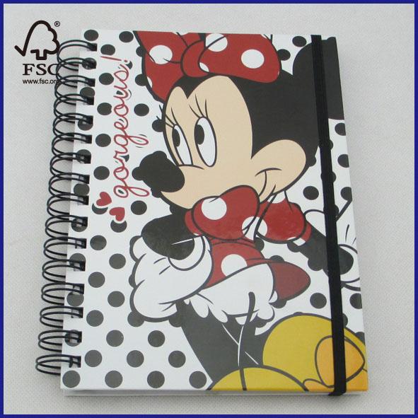 A5 disney hardcover spiral notebook
