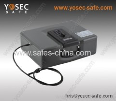 Yosec vehicle car safe with electronic lock/Portable safe with cable