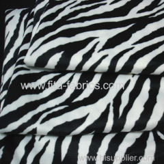 Zebra-stripe printed minky fleece