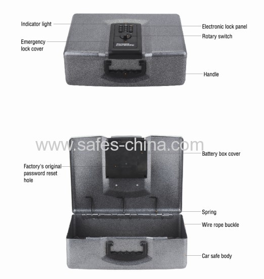 Yosec car safe with electronic lock