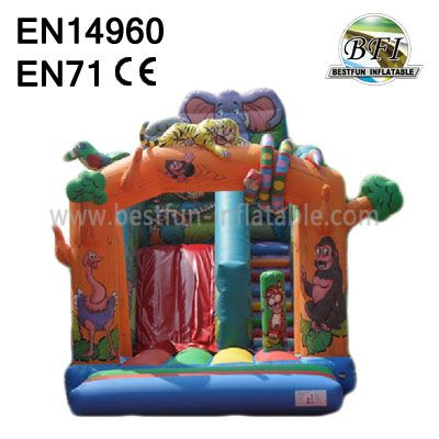 Inflatable Jungle Snake Slide