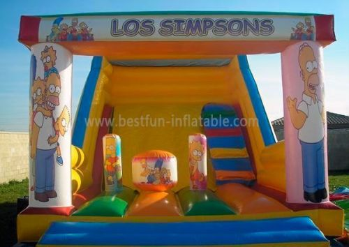 Los Simpasons Inflatable Water Park Slide Amusement