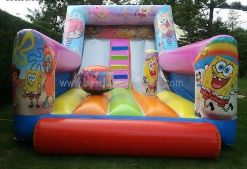 Cheap Spongebob Inflatable Slide For Kids And Adults