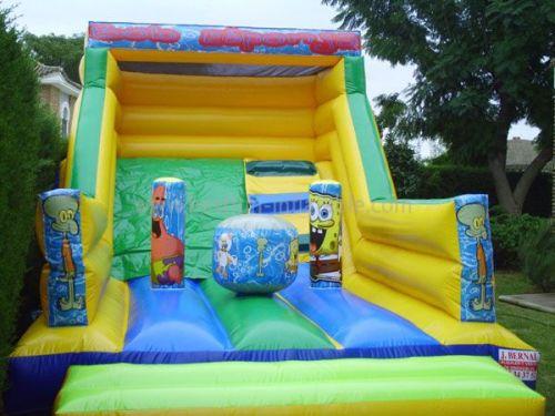 Spongebob Adventure Inflatable Slide With Bouncer