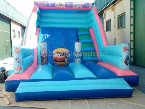 Blue Bouncer Jump Car Inflatable Slide