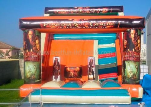 Piratas Caribe Party Happy Inflatable Slide
