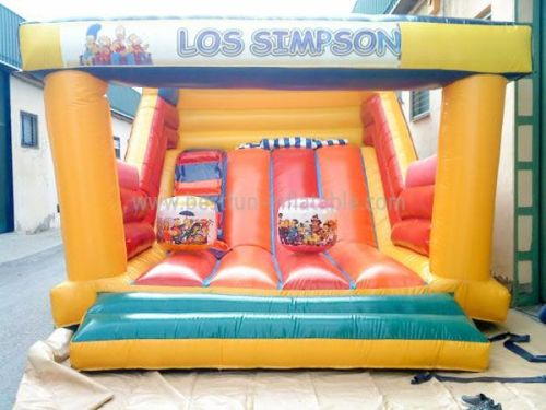 Los Simpasons Inflatable Bounce House Slide