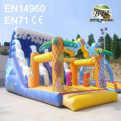 Jugle Surf Wavy Inflatable Slide