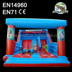Madagascar Red Inflatable Slide