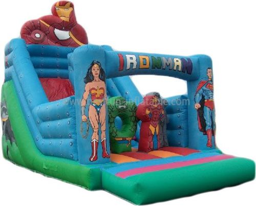 The Iron Man Inflatable Slide Bouncer Obstacle