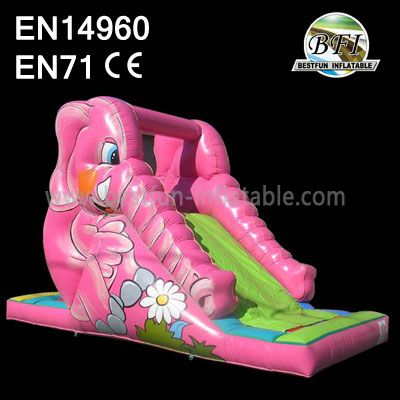 Inflatable Single Lane Elepant Slide