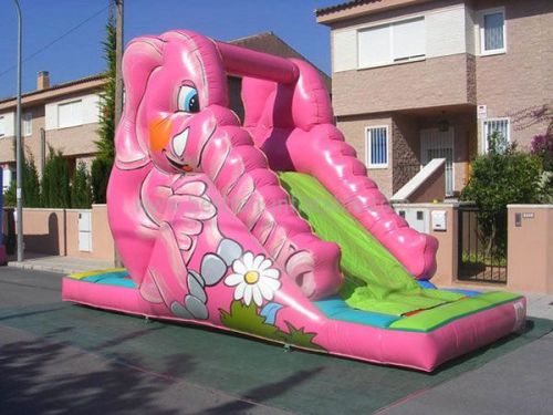 Pink Children Inflatable Single Slide