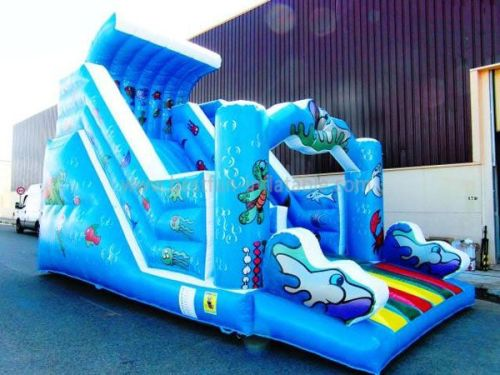 Commercial Inflatable Sea World Slide For Sale
