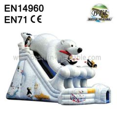 Inflatable Polar Bear Slide