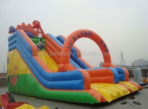 Inflatable Dino Dry Slide