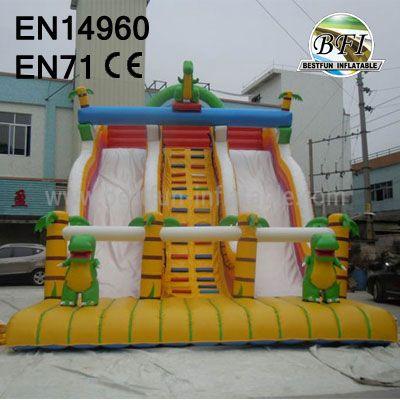 Giant Adult Inflatable Dinosaur Slide