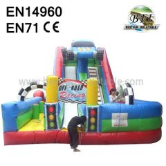 Big Inflatable Racing Car Slide