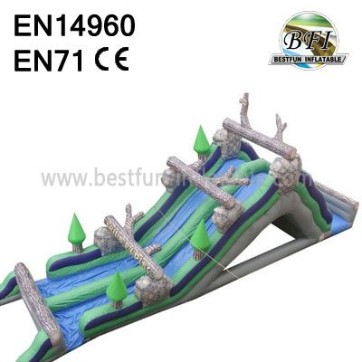 Inflatable Log Mountain Wate Slide