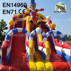 Happy Clown Bouncy Slides For Sale
