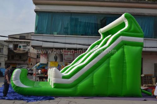Inflatable Green Slide Wave