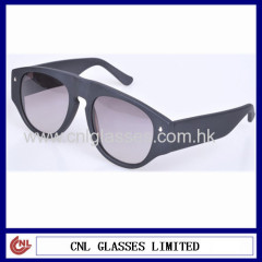 Matte black unique sunglasses