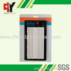white and square hole breadboard ZY-W201