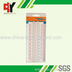 840 points color coordinate breadboard ZY-M102