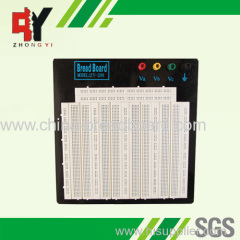 large white breadboard with black plate ZY-W208