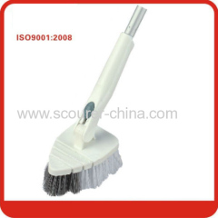 Multi-function plastic bathroom brush with Telescopic aluminum handle