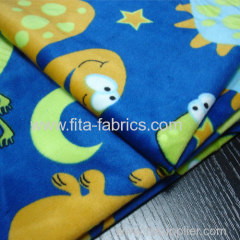 Dinosaur Ages printed soft velboa fabric