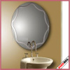 Mirror with Jewelry Case MDF Wooden Storage Case