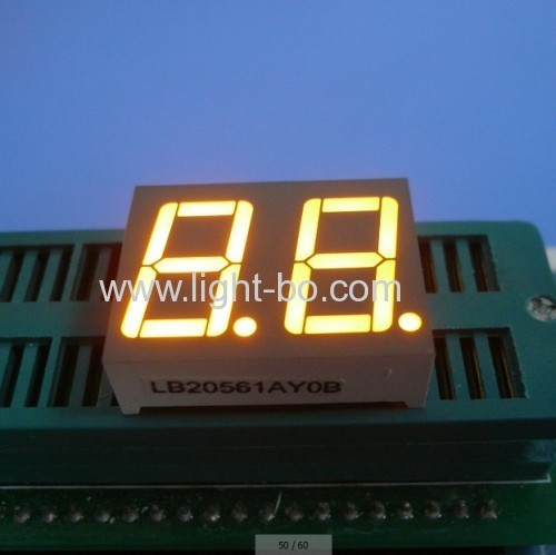 Dual digit 0.56common anode super bright green seven segment led numeric disdplays