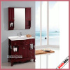 solid wood floor mounted bathroom mirror with mirror cabinet