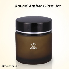 frosted glass cosmetic jars