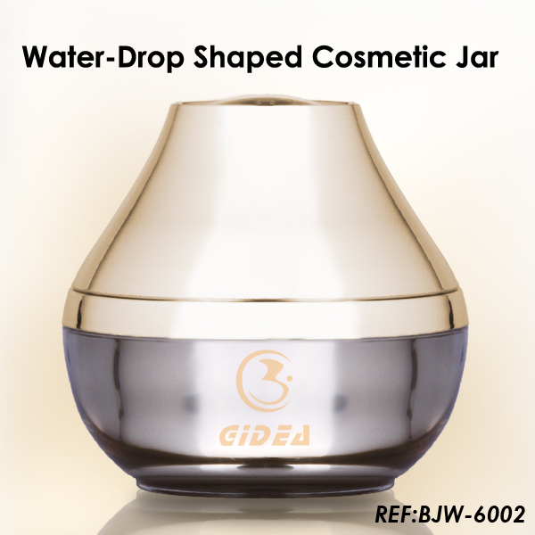 Water drop shaped unique cream jar for cosmetic packaging