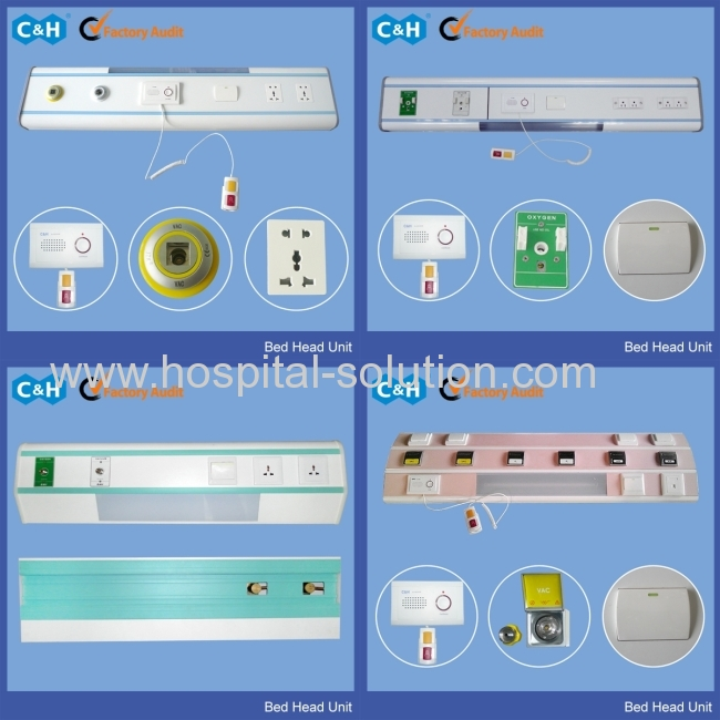 Hospital Bed Head Wall For Medical Gas Outlet System Bhu