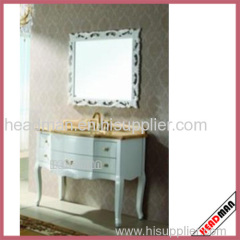 High Gloss Painting, PVC Coating Bathroom Cabinet