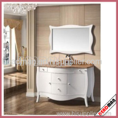 700mm Glossy White Lacquer Bathroom Cabinet
