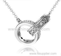 Rhodium pendant for mens