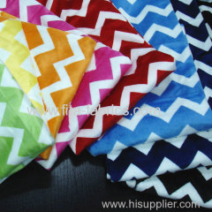 Zigzag printed soft velboa fabric