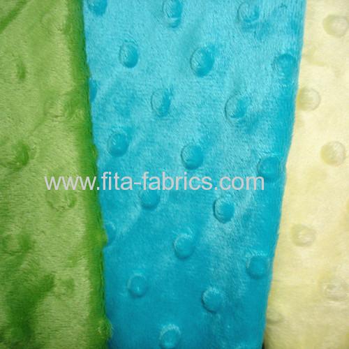 100% polyester dyedembossing minky fleece