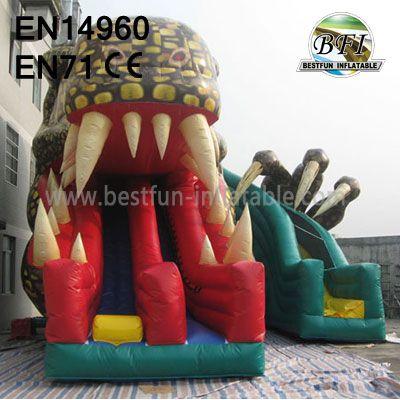Dual Lanes Inflatable Raptor Slide