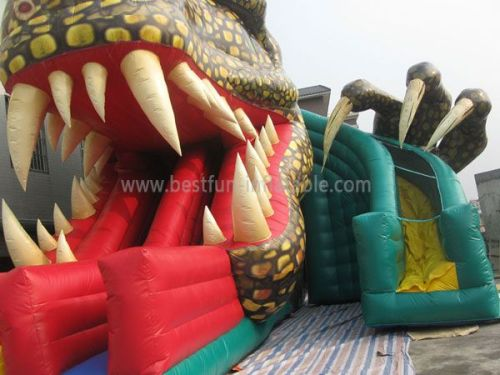 Front Load Inflatable Slide Raptor