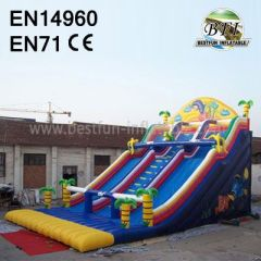 Palm Tree Inflatable Paradise Slides