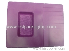 PS flocking packing tray for sanitary parts PS flocking blister tra