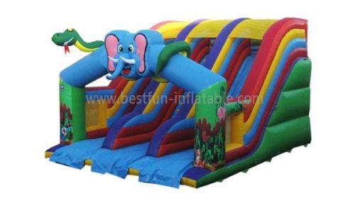 Commercial Grade Elephant Inflatable Slides For Rental