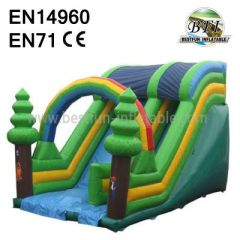 Inflatable Tree Slide With Air Blower