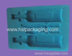 Plastic flocking blister space tray