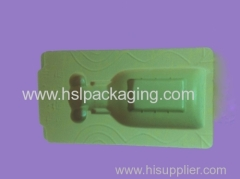 Flocking package tray for valve plastic flocking packing tray for bathroom accessories