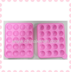 fashione Silicone Lollipop pink sugar-loaf Moulds